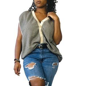 Pebble Beach chevron pattern sweater vest size XXL